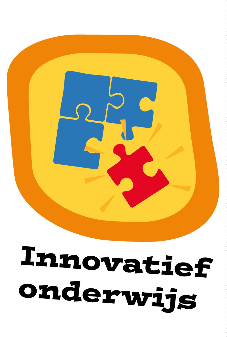 icoontje met puzzelstukjes en tekst innovatief onderwijs